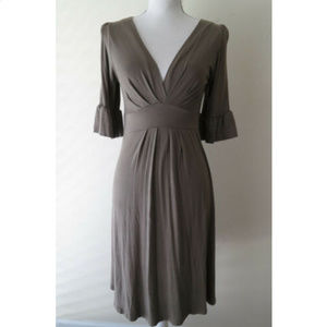 ZARA Collection TAUPE COLOR soft V-Neck dress